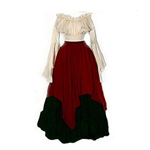 Mujer Larga Disfraces Pw Medievales Manga 2 De Renacentistas Largos Vestidos Para wI7IgY