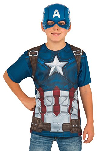 Rubie's Costume Captain America: Civil War Child Top and Mask, Small ()