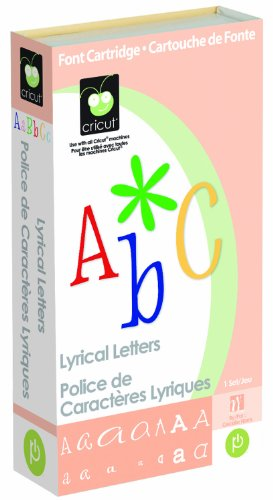 - Cricut Cartridge, Lyrical Letters