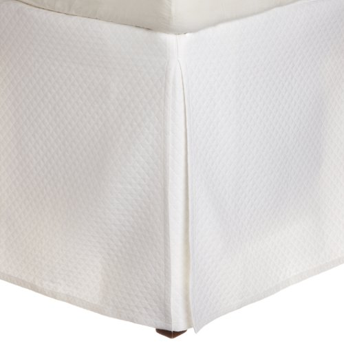 Peacock Alley Oxford Bedskirt, Twin, White