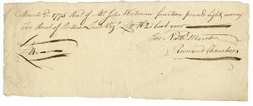 1775 Antique Signed Document UACC from Ustar
