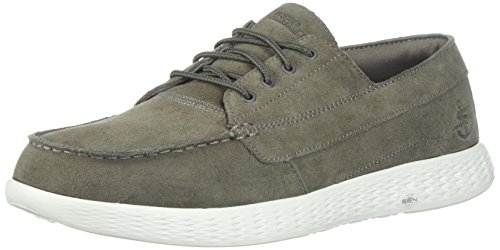Vision Boat - Skechers Performance Men's on-The-Go Glide-Vision Boat Shoe,Khaki,11 M US