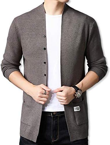 [スロウライド] メンズ 男性 ニットジャケット 長袖 無地 通勤 通学 お洒落 ビジネス カジュアル フォーマル 大きい サイズ