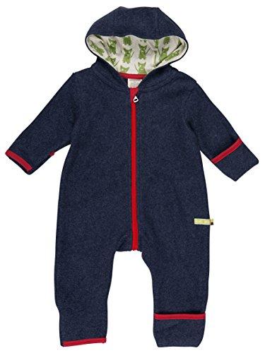 loud + proud Unisex Baby Schneeanzug Overall Fleece, Blau (Midnight Mi), 80 (Herstellergröße: 74/80)