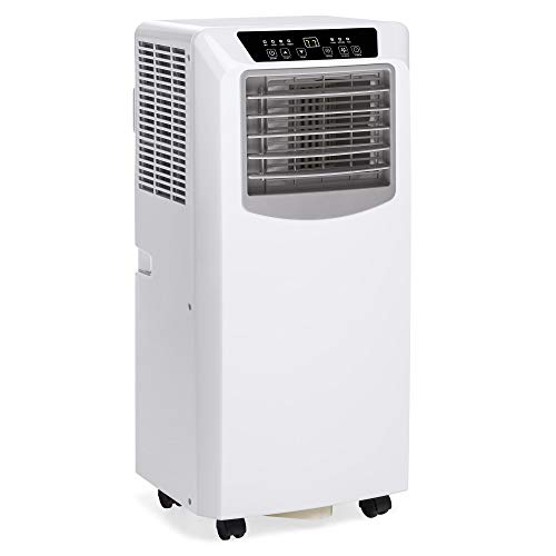 - Best Choice Products 3-in-1 10,000 BTU Portable Compact Air Conditioner AC Cooling Fan Dehumidifier Unit for Up to 200 Sq. Ft. with Remote Control