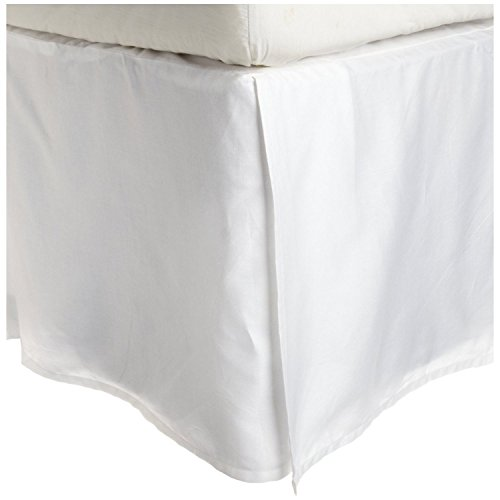 Pleated Linen (100% Premium Combed Cotton, 300 Thread Count Soft & Smooth Pleated Bed Skirt with 15