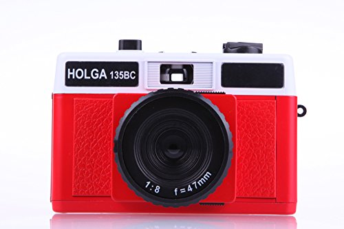 Holga 135BC Red and White 35mm Camera by Holga