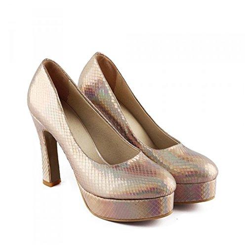 de interior nocturno zapatos mujer tacón piel la serpiente de Europea mujer club Señoras soltera Zapatos tacón y de en zapatos de zapatos mujer de de americana alto zapatos de alto Gold sexy FwH4xwg1q