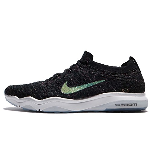 new style 07bb2 9f8e0 Galleon - Nike Women s Air Zoom Fearless Flyknit Metallic Training Shoes  (6, Black-M)
