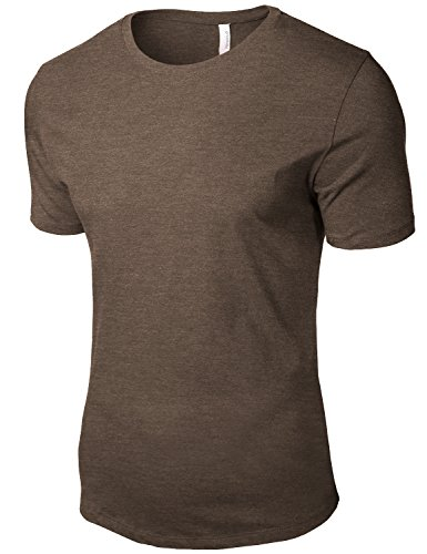 Heather Color Simple Round Neck Sort Tee Shirts