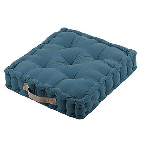 Rétro - Cojín de Suelo (algodón, 45 cm), Color Azul: Amazon ...