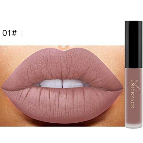 Lip Plumper,Aritone New Lip Lingerie Matte Liquid Lipstick Waterproof Lip Gloss Makeup 12 Shades (High Intensity Lip Gloss)