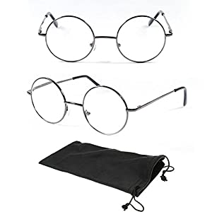 (#VRO1 GM) Gun Metal +2.75 One Stop Discount Shop- Designer Round Oval Reading Glasses Reader Spring Hinge Harry Metal