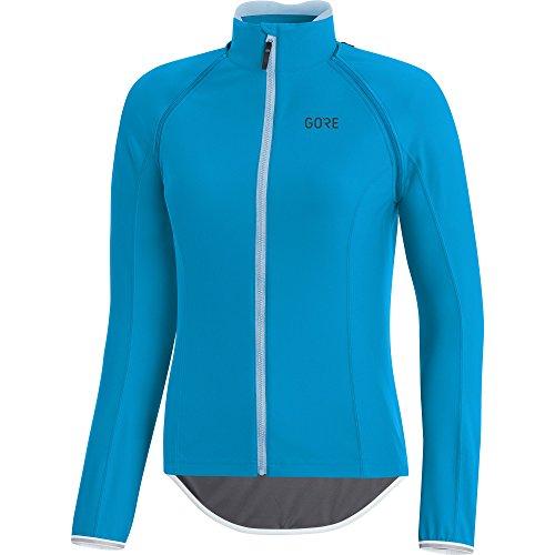 (GORE Wear Women's Windproof Road Bike Long Sleeve Jersey, Detachable Sleeves, GORE Wear C5 Women's GORE Wear WINDSTOPPER Zip-Off Jersey, Size: L, Color: Dynamic Cyan, 100204)