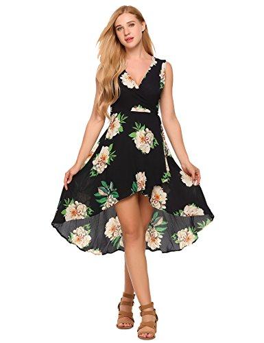 Zeagoo Women's Casual Hi Low Long Maxi Dress Sleeveless Summer Swing Dress