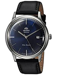 Orient Men's '2nd Gen. Bambino Ver. 3' Japanese Automatic Stainless Steel and Leather Dress Watch, Color:Black (Model: FAC0000DD0)