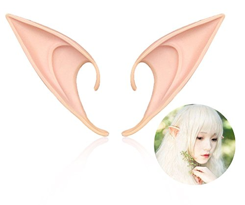 Water Fairy Halloween Costume (Elf Ear Costume Halloween Party Props, Soft Pointed Ears of Fairy Pixie for Anime Cosplay, Size:L)