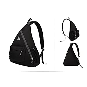 Kimlee One Strap Backpack Hiking Backpack with Water-resistant Lightweight Nylon Material