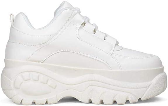 Sneakers de Piel Vegana con Plataforma Maxi y Detalles en la Suela ...
