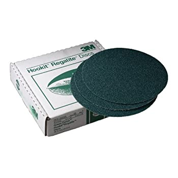 Image of 3M 00525 Green Corps Hookit 8' 36E Grit Regalite Disc Sanders