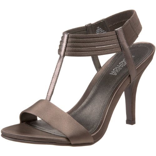 Kenneth Cole Reaction Women's Know Way T-Strap Sandal,Pewter,5.5 M (Canvas T-strap Sandals)