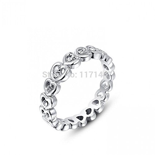 Bestsellerwen New Arrival Couples Lovers Designer Elegant Ring Jewelery Rose Gold / 18K White Gold Plated Crystal Love Hearts Rings for Engagement Wedding