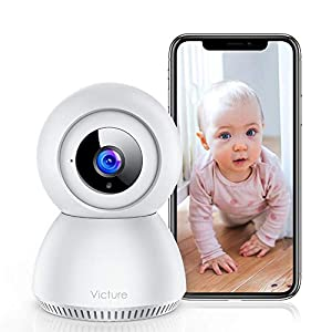Baby Monitor, Victure 1080P HD Baby Monitor with Camera, Smart Motion Tracking and Sound Detection, 2.4G WiFi Home…