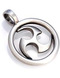World Triad Pendant (E25) - eternity and cosmic creativity - Satin Silver Finished Signature Design