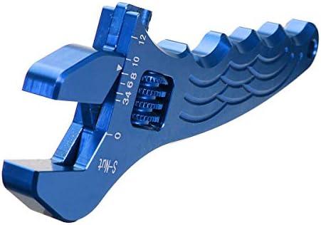 ハードウェアツール 実用的 調節可能なアルミレンチの調整ツールは、3色のスパナ (色 : Blue)