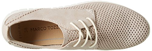 Marco Tozzi Premio 23728, Zapatillas para Mujer Beige (Dune Metallic 412)