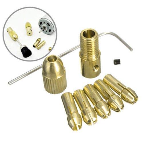 (8 Pcs 0.5-3mm Small Electric Drill Bit Collet Mini Twist Drill Tool Chuck Set )