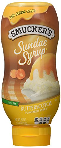 Smucker's Sundae Syrup: Butterscotch (Pack of 2) 20 oz Size