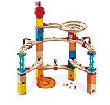 Hape Castle Escape - Quadrilla Wooden Marble Run - STEM Learning, Building & Development Construction Toy - Counting, Color & Problem Solving for Ages 4+, 101Piece