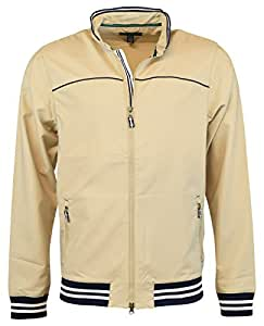 Tommy Hilfiger Mens Linton Double Weave Wind Jackets X-Large Light Khaki