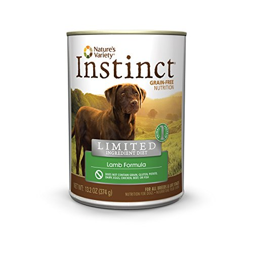 Instinct Limited Ingredient Diet Grain Free Lamb Formula Natural Wet Canned Dog Food by Nature's Variety, 13.2 oz. Cans (Case of 12)