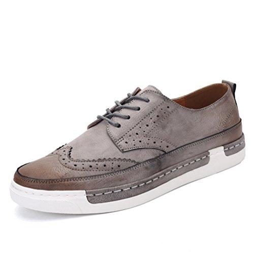 [XINXIKEJI]メンズデッキシューズ 通気 軽量 クッション性 スリッポン カジュアル ウォーキング 履き心地よい 歩きやすい 紳士靴  グレー ブラック ブラウン