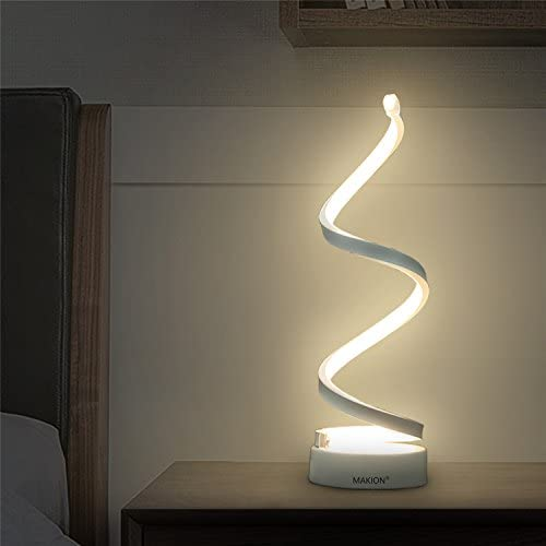 picture of Makion Spiral LED Table Lamp, Curved LED Desk Lamp, Contemporary
