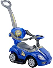 Tots Push Ride-On Car with Handle - Blue