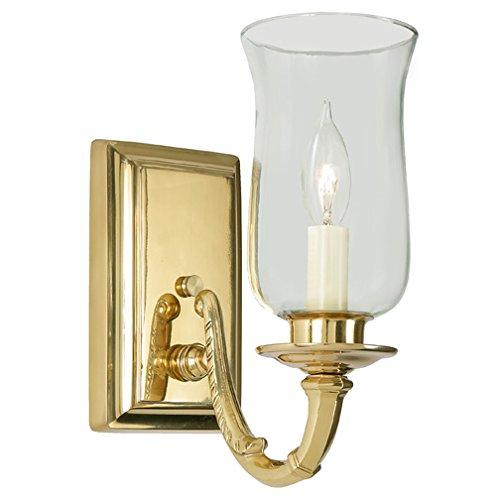 One Light Hurricane Lamp - JVI Designs 270-01 1-Light Virginia Sconce with Hurricane Shade