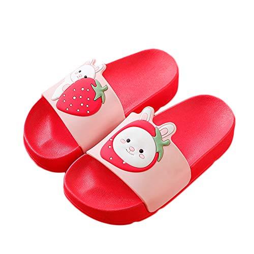 NADARDA Colorful Fruit Boys Girls Slide Sandals Non-Slip Summer Beach Pool Bath Slippers(Toddler/Little Kid) (Slippers For The Beach)