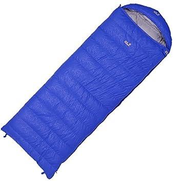 IOL blanca Ganso inferior Sacos de dormir (Plumón Sacos de dormir camping/senderismo/comida al aire libre especiales, azul: Amazon.es: Deportes y aire libre