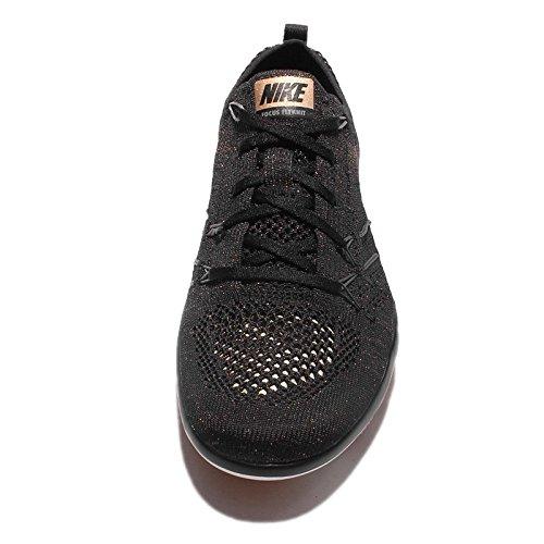 Nike Frauen Free Transform Flyknit Trainingsschuhe Schwarz / Cool Grau-Dunkelgrau