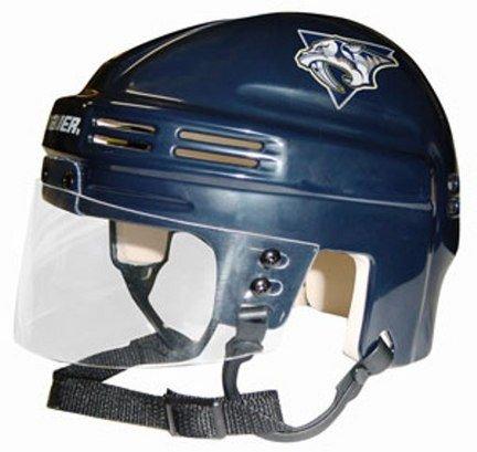 Nashville Predators NHL Authentic Mini Hockey Helmet from Bauer (Blue)