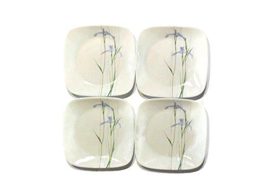 "Corelle Dinnerware Dessert Plates Set, Square Shadow Iris 6.5"", (Set of 4), Top Kitchen Gifts For Moms, Women, Wife, Friend, Girlfriend, Grandma, Daughter"