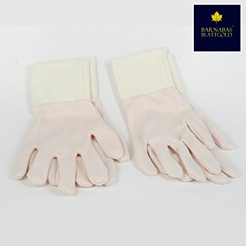 Cotton Gold Leaf Gilding Gloves - by Barnabas Blattgold - Perfect Snug Fit - Maximize Feeling in Fingers - 2 pairs ()