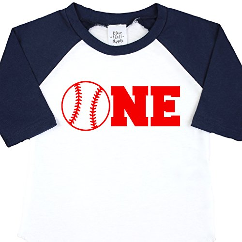 Baseball One Boys Birthday Shirt 1st Birthday Shirt Boys Blue Baseball T Shirt for Boys 1st Birthday Shirt, Blue, 18 Months (Infant Baseball Shirt)