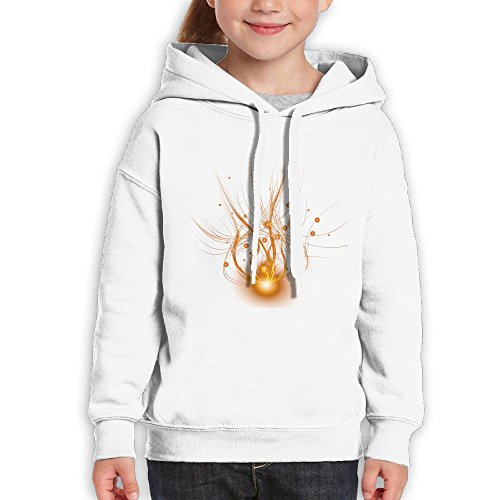 Grass Golden Spread Light Effect Youth Custom Hoodie 100% Cotton Fashion Keep Warm Sweatshirt Hooded Pullover For Girls & Boys XL White - 14 Light Orleans Chandelier