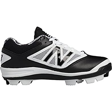 d073b11c1b9 New Balance Low-Cut 4040v3 Kids Rubber Molded Baseball Cleat Black White