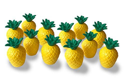 - Plastic Pineapple Cups with Green Top- 12 Cups (1 Dozen, Bulk 10 Oz. Each)