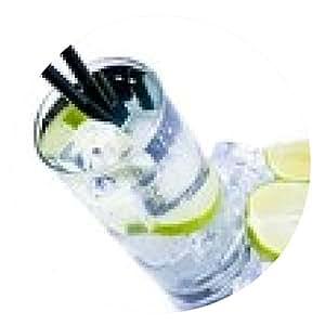 alfombrilla de ratón la parte superior de vista de la copa de cóctel con hielo y rodaja de limón aislado - ronda - 20cm